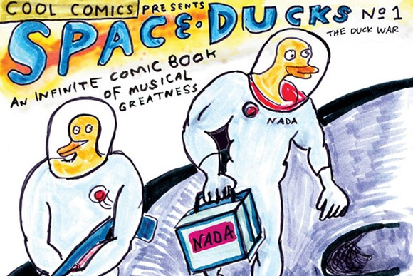 Daniel Johnston Announces Space Ducks
